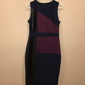 Asos color block pencil dress